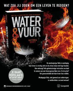 1. In een tijdschrift las ik deze advertentie over het boek Water & Vuur en het leek me super leuk! Er stond bij dat het erg op de hunger games leek. Dat vond ik ook een heel spannend boek, daarom wou ik Water & Vuur ook graag proberen.