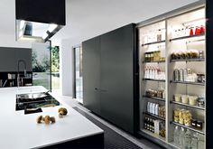 Cucina. i want this fridge in my next kitchen!