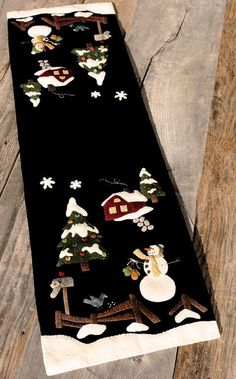 Winter in the Valley Wool Applique Pattern