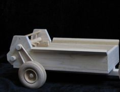 "13"" x 6"" x 5"" Our Wood Toy Manure Spreader has ground driven beaters that move by rubber band power when pushed across the floor. It's awesome and it hooks to our CL17 Tractor or our CL21A Pickup Truc"