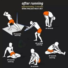 After running stretches