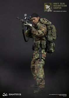 onesixthscalepictures: DAM Toys NAVY SEAL RECONTEAM SNIPER : Latest product news for 1/6 scale figures (12 inch collectibles) from Sideshows...
