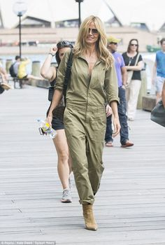 Making it count: Heidi Klum made the most of her free day in Sydney, strolling through the...