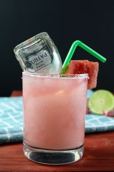 Watermelon Jolly Rancher Frozen Margarita