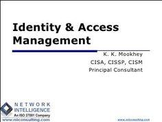 Identity & Access Management by K. K. Mookhey