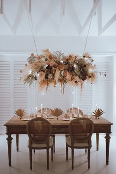 In case you haven t been convinced yet this miami wedding inspiration will make you want to decorate everything using pampas grass plan your party at the 360 at skyline with these fabulous cocktail tables that your guests will enjoy all night! Wedding Table Centerpieces, Flower Centerpieces, Flower Arrangements, Wedding Decorations, Centerpiece Ideas, Hanging Centerpiece, Reception Table, Wedding Reception, Dinner Table