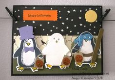 Snow Place stamp set, Snow Friends framelits, an Happy Haunting DSP all by Stampin' Up!