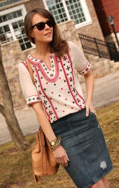 love the top (of course no longer available) but on the lookout for an embroidered blouse