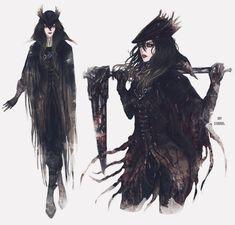my oc June The Ashen Hunter - I'm just a dreamer, I dream my life away Bloodborne Concept Art, Bloodborne Art, Bloodborne Outfits, Gothic Fantasy Art, Fantasy Artwork, Dark Fantasy, Fantasy Character Design, Character Design Inspiration, Character Art
