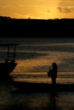Jacare beach at sunset