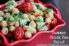 Summer Chick Pea Salad