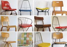 Vintage chairs for kids