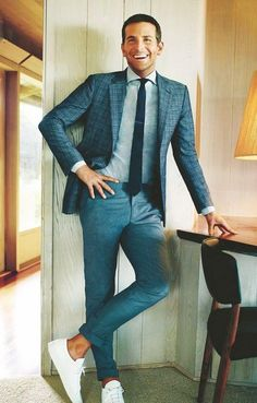 Men's casual wear - Knigge and examples of successful outfit - We Love Menswear - Anzug Muster Business Casual Herren, Stylish Men, Men Casual, Smart Casual, Casual Chic, Casual Wear, Traje Casual, Moda Blog, Herren Outfit