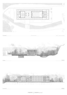 architecture presentation section elevation plan layout _ CJWHO ™ (Bachelors D. - architecture presentation section elevation plan layout _ CJWHO ™ (Bachelors Degree Presentation - Coupes Architecture, Plans Architecture, Architecture Panel, Architecture Graphics, Architecture Drawings, Architecture Details, Landscape Architecture, Concept Architecture, Gothic Architecture
