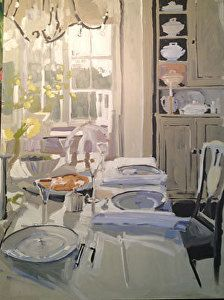 Setting Up by Laura Lacambra Shubert Oil ~ 48 x 36