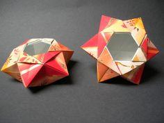 Aurora, variation Matériel : papier cadeau Créatrice : Giuliana Beber - Instructions no longer available.