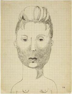 Louise Bourgeois Autoportrait, 1942. Paris, Centre Pompidou.