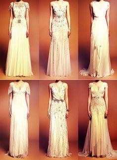Vintage inspired dresses. Jenny Packham