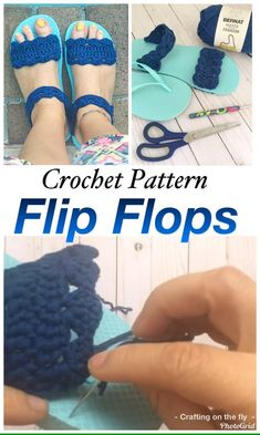 Free Crochet Flip Flop Pattern - Crafting on the Fly - Flip flops crochet Pattern. Learn how to make sandals from flip flops with this easy free crochet pa - Crochet Mask, Crochet Boots, Crochet Baby Shoes, Diy Crochet Sandals, Crochet Shoes Pattern, Shoe Pattern, Crochet Patterns, Easy Crochet Slippers, Crochet Flip Flops