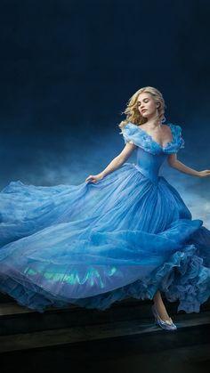 Cinderella Dress Blue Art iPhone 8 Wallpapers
