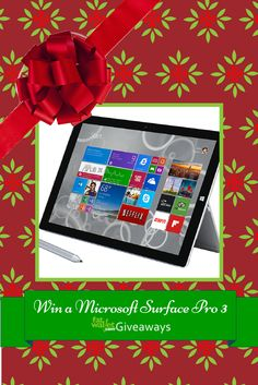 Win a Microsoft Surface Pro 3 from FatWallet: http://www.fatwallet.com/blog/giveaway-microsoft-surface-pro-3/#comment-501359