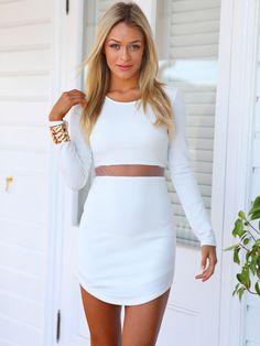 The Nikita Dress. White Fashion, Teen Fashion, Fashion Outfits, Womens Fashion, Runway Fashion, Fashion Trends, Vestidos Tumbler, Pretty Outfits, Cute Outfits