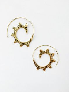 Traditional Indian Spiral Design Earrings