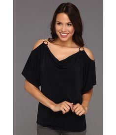 MICHAEL Michael Kors MJ Cold Shoulder Ring Top Women's Blouse - Navy Mj, Blouses For Women, Cold Shoulder Dress, Michael Kors, Navy, Ring, Women's Shirts, Color, Tops