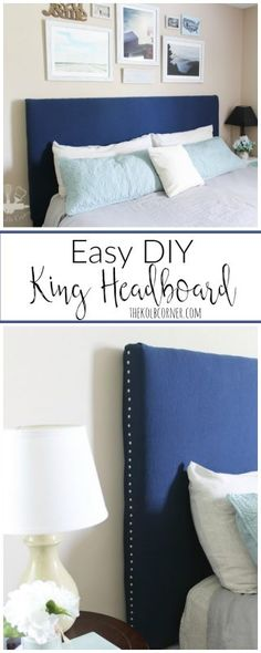 Bedroom Ideas No Headboard floating headboard diy (no nail holes!!!) | pinnedsophia