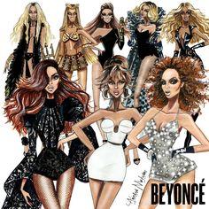 "armandmehidri: "" Happy Birthday Beyonce - by Armand Mehidri O collection of my Beyonce illustrations """