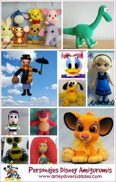 Diversidades: patrones gratis de crochet, amigurumi y manualidades: PERSONAJES DISNEY AMIGURUMIS, NUEVOS PATRONES