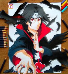 Itachi drawing done tell me what u think of it guys. Have a gr8 day✨ ---------------------------------- #AnimeBreath #animearttr…