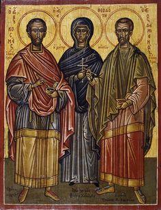 Η Αγία Θεοδότη  με τον Άγιο Κοσμά  και τον Άγιο Δαμιανό παρεκκλήσιο των Αγίων Αναργύρων στον Πάρνωνα Λακωνίας