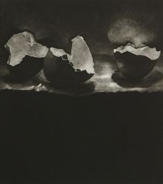 Discarded object (calcium) III Another mezzotint by Kate Riley. S