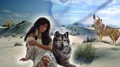 Native girl and wolf Native American Wolf, American Indian Art, American Indians, American Women, Indian Wolf, Native Indian, Red Indian, Native Art, Indian Style