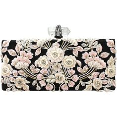 MARCHESA Simonetta Embroidered Clutch found on Polyvore