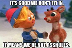 It's good we don't fit in - island of misfit toys