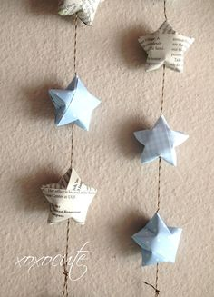 Baby star streamer DIY idea for the corner of the nursery