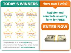 BIG WINNER ANNOUNCEMENT! Is it your lucky day? | Sweepstakes For Days