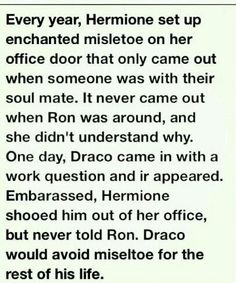 I've never been a fan of Dramione, but this makes me say an awww. for Draco. Harry Potter Ships, Harry Potter Facts, Harry Potter Love, Harry Potter Fandom, Harry Potter World, Draco And Hermione, Draco Malfoy, Nerd, Mischief Managed