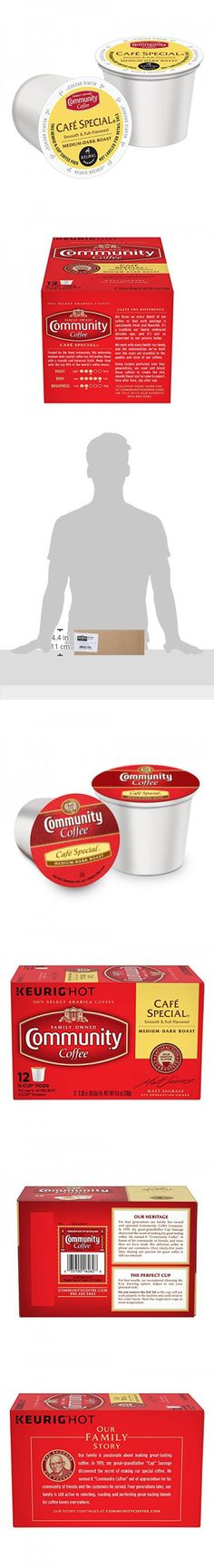 Community Coffee K-Cup Pods, Café Special,  12 Count (Pack of 3)