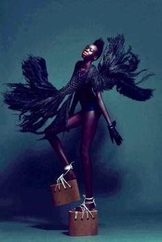 http://www.inkedmag.com/ Black Woman!! ...Art | #fashion #art #wearepatterns