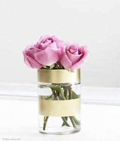 Gold-Striped Vase - ELLEDecor.com