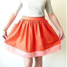 Made by Rae Cleo Skirt sewing pattern - gathered skirt with pockets | Textillia.com