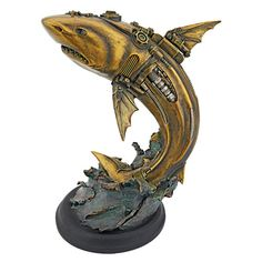 Design Toscano Steampunk Shark Cyborg Fish Statue