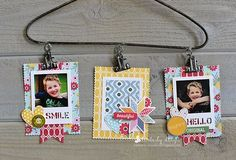 Photo Hanger by Kimberly Crawford featuring Jillibean Soup Sew Sweet Sunshine Soup and Mix the Media hanger