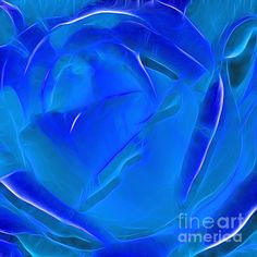 #VEIL OF #BLUE - #Abstract Quality Prints & Cards available at:  http://kaye-menner.artistwebsites.com/featured/veil-of-blue-kaye-menner.html  -