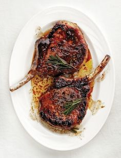 Honey and balsamic vinegar are the sweet and sour agents in these Italian-style grilled pork chops, which pair well with stewed sweet peppers.