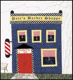 Barber Shop House Quilt Patterns, House Quilt Block, Quilt Block Patterns, Quilt Blocks, Hand Applique, Applique Quilts, Colorful Quilts, Sampler Quilts, Foundation Paper Piecing