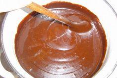 Vařená čokoládová poleva Kefir, Chocolate Fondue, Christmas Cookies, Nutella, Pudding, Baking, Food, Xmas Cookies, Christmas Crack